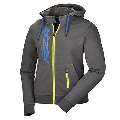 2016 OEM Womens Polaris RZR Grey & Lime Full Zip Hoodie Hooded Sweatshirt XS-3XL