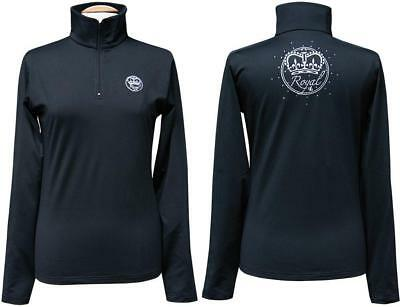 Horse Riding Clothing Womens Competition Shirt - Royal Competitor in Black, W...