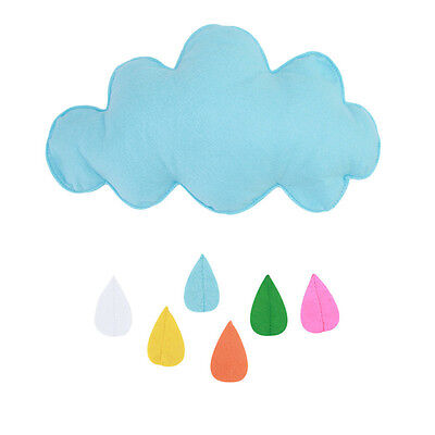 Kids Play Tent Props Toy Raining Clouds Water Drop/Star Baby Bed Hanging Decor