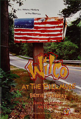 Wilco with Bettie Serveert 1997 Fillmore San Francisco F271 Poster Jonathan Hess