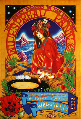Widespread Panic 2003 at The Warfield San Francisco BGP305 Poster by Josh Hunter