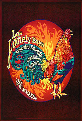 Los Lonely Boys Alejandro Escovedo Carrie Rodriguez '10 Fillmore SF F1042 Poster