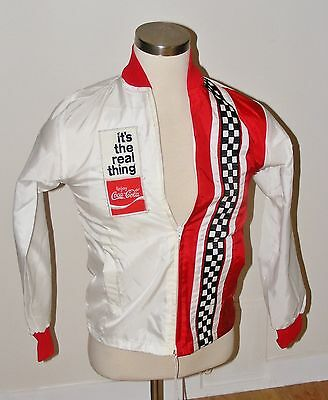 Vintage 70s Coca-Cola Coke Racing Jacket It's The Real Thing Windbreaker US Flag
