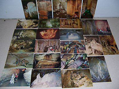 1950s-70s VTG USA CAVE CAVING CAVERN SPELUNKING POSTCARD LOT of 25 DIFF
