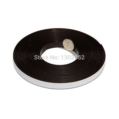 2 meters 12.7x1.5mm Flexible Magnetic Strip with 3M self adhesive rubber magnets