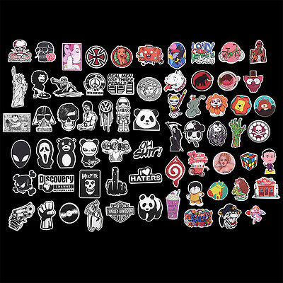 100Pcs/Pack Different Pattern Stickers Decals For Car Luggage Laptop Skateboard