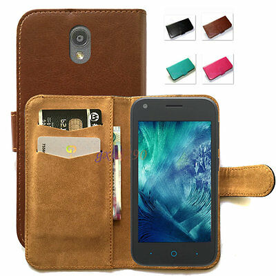 New Fitted Stand Design PU Wallet Phone Case Cover for Optus Prepaid Smartphone