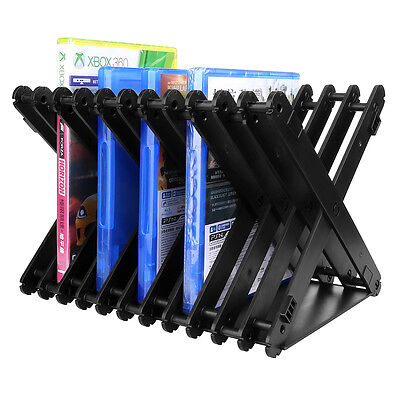 Universal Game & Blu Ray Disc Storage Tower Shelf Stand Kit for Xbox One PS3/PS4