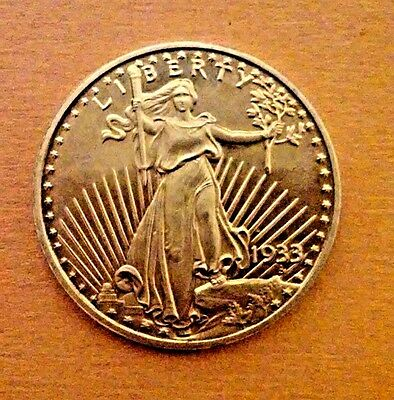 1933 Liberty Double Eagle proof , copy, $20 peace