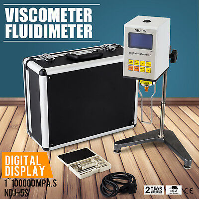 Digital Rotary Viscometer Fluidimeter NDJ-5S LCD Meter Viscosity UK