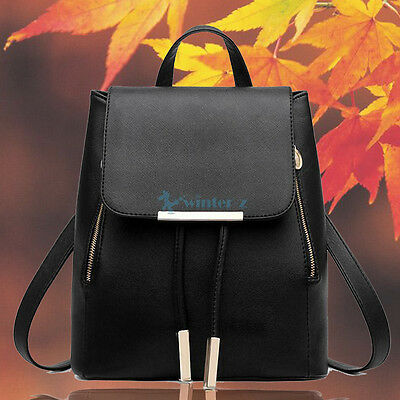 Girl Womens Fashion New Leather Satchel Backpack Rucksack Shoulder School Bag