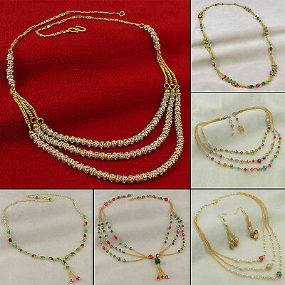 Goldtone Bollywood Indian Women Necklace Designer Women Jewelry BNS8630A-PAR