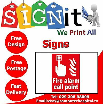 Fire Alarm Call Point Plastic Correx, Aluminium Or Sticker Sign - 0044
