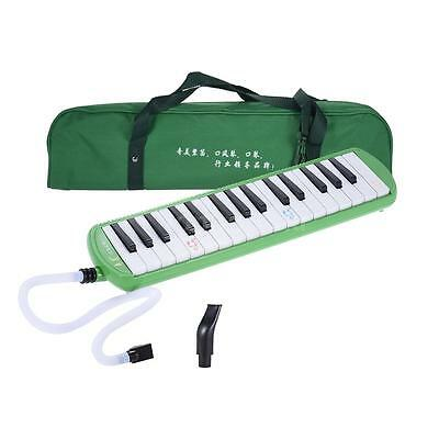 QIMEI 32 Piano Style Keys Melodica for Beginner Kids w/ Carrying Bag Green U3G9
