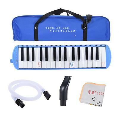 QIMEI 32 Piano Style Keys Melodica for Beginner Kids w/ Carrying Bag Blue R1T4