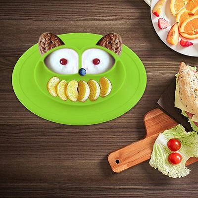 Smile One-Piece Silicone Placemat Plate Dish Food Table Mat for Baby Toddler Kid