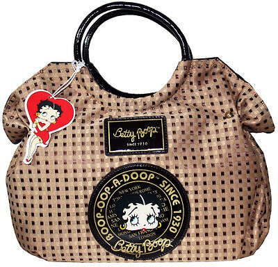 BETTY BOOP Licensed Handbag Woven Design Brown (NEW with Tag) U.S. Seller