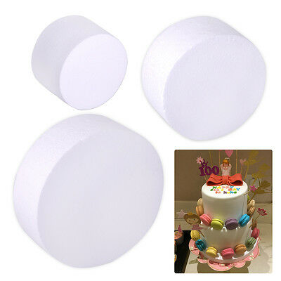 Dummy Cake Round Polystyrene Styrofoam Foam Wedding Party Decoration DIY Craft