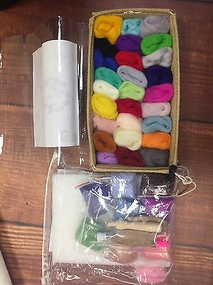 needle felting kit Starter Pack 36 Colours UK Seller Merino Roving Wool