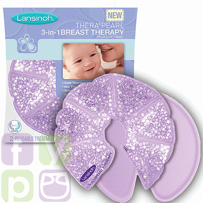 TheraPearl Hot & Cold Breast Therapy | Breastfeeding Pain Relief by Lansinoh