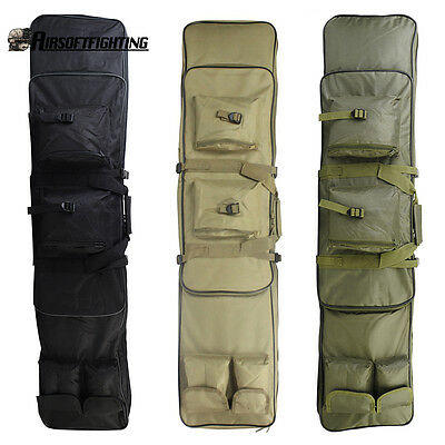 """47"""" Tactical Waterproof Double Rifle Padded Gun Bag Backpack with Shoulder Strap"""