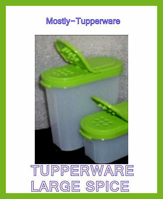 Tupperware LARGE Spice Set (4) Limited Edition GREEN - 1 Cup Capacity