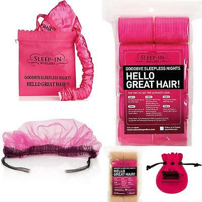 Sleep In Rollers Soft Foam - Blonde Pink - HairDryer Hood Clips Hairnet