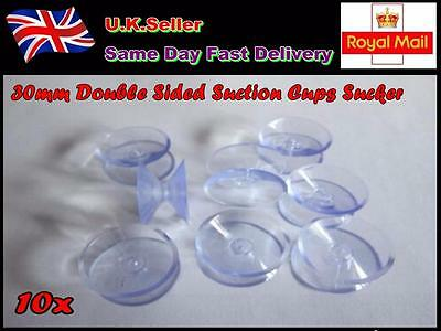 10x 30mm Double Sided Suction Cups Sucker for Glass Plastic