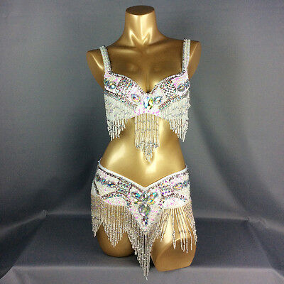 D /&DD CUP C1601 Belly Dance Costume Outfit Set Bra Belt Carnival Bollywood 2 PCS