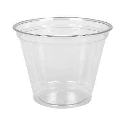 PET Clear Cups Dessertbecher Smoothie Cup 260 mm / 9oz, 800 Obstbecher