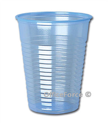 1000 Clear Blue Plastic Vending Catering Party 7oz 200ml Disposable Cups © Bulk