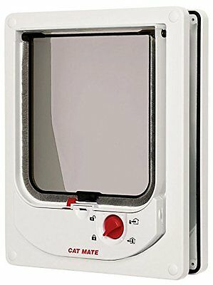 Cat Mate Electromagnetic Cat Flap White Pet Pet Mate New UK SELLER