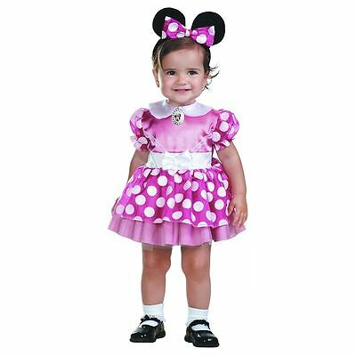 Minnie Mouse Baby Infant Girls Pink Disney Clubhouse Halloween Costume 2 Toddler