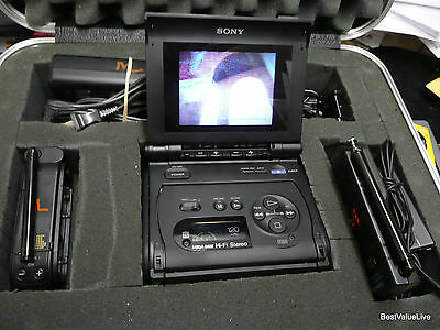 SONY VIDEO WALKMAN RECORDER/MONITOR GV-S50 Video 8+TGV-3 TV TUNER Play Rec Edit