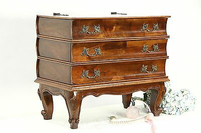 Italian Book Stack Vintage Chairside Table or Jewelry Chest