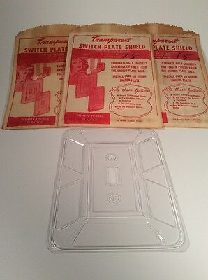 (Vintage 1970's) Switch Plate Shields ( 3 Units ) NIP, Tommy Tucker Plastics