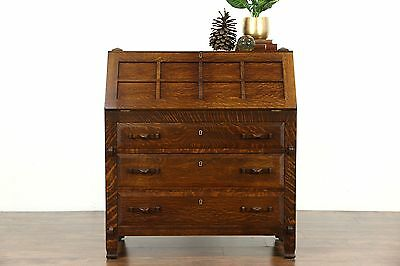 Arts & Crafts Mission Oak Quarter Sawn 1905 Antique Craftsman Secretary Desk