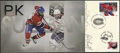 CANADA Sc #2671.26.1 MONTREAL CANADIANS P.K. SUBBAN FDC SIGNED by DESIGNERS