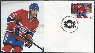 CANADA Sc #2671 (49) MONTREAL CANADIANS FRANCIS BOUILLON on FIRST DAY COVER