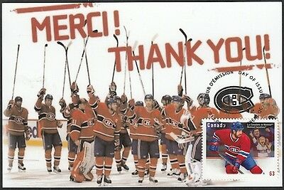 CANADA  #2671.84 - MONTREAL CANADIANS SAY THANK YOU on MAXIMUM CARD