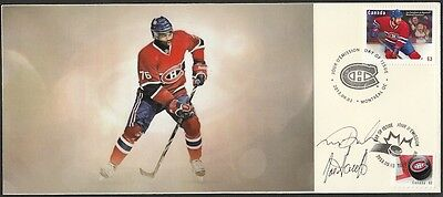 CANADA Sc #2671.29.1 MONTREAL CANADIANS P.K. SUBBAN FDC SIGNED by DESIGNERS