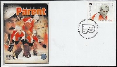 CANADA # 2871.10 - BERNIE PARENT HOCKEY STAMP on FIRST DAY COVER
