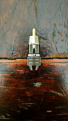 Straight Wire RCA Male End Connector