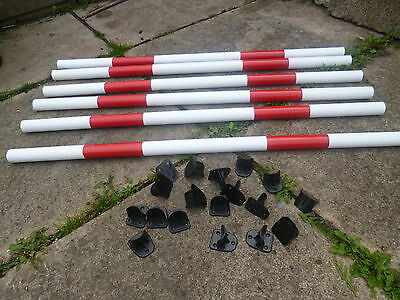 Johns Agility Dog Agility Pack 6 Poles +18 Quality Jump Cups Training Obedience