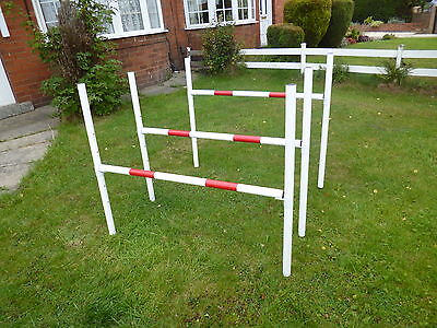 johnsagility dog agility equipment 5 heights jumps with snap on cups x 3