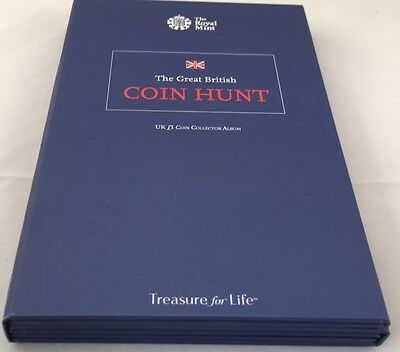 The Great British 1 Pound £1 Coin Hunt Full New Album 26 Coins Royal Mint Aoog