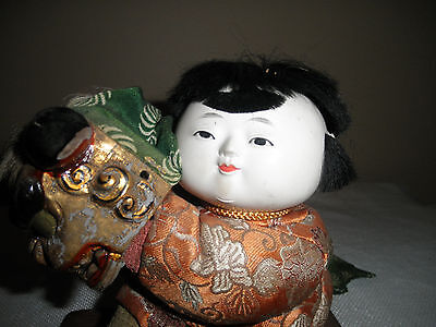 Old Japanese Boy And Dragon Festival Doll