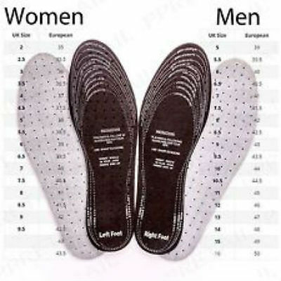 2 Pairs Shoes Inner Soles Cut To Size Extra Soft 4 Insoles Anti Odour Insoles