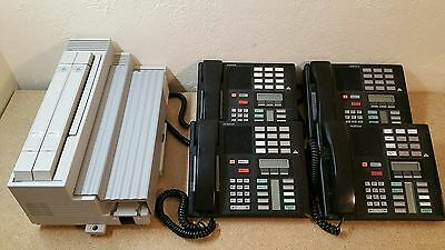 WORKING Nortel Compact ICS Phone System & 4 Hand-Sets