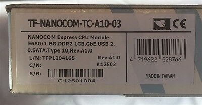 AAEON TF-NANOCOM-TC-A10-03 Nanocom Express CPU E680 1.6Ghx 1GB DDR2 Gbe SATA USB